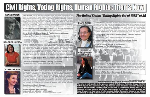 Civil Rights, Voting Rights and Human Rights poster